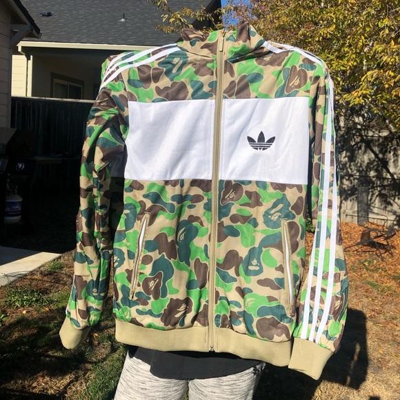 f92bf83a Bape Jackets & Coats | X Adidas Jacket | Poshmark